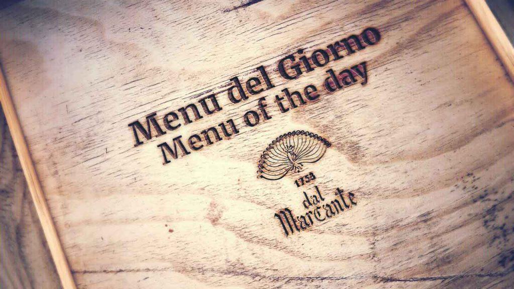 menu del giorno dal Marcante