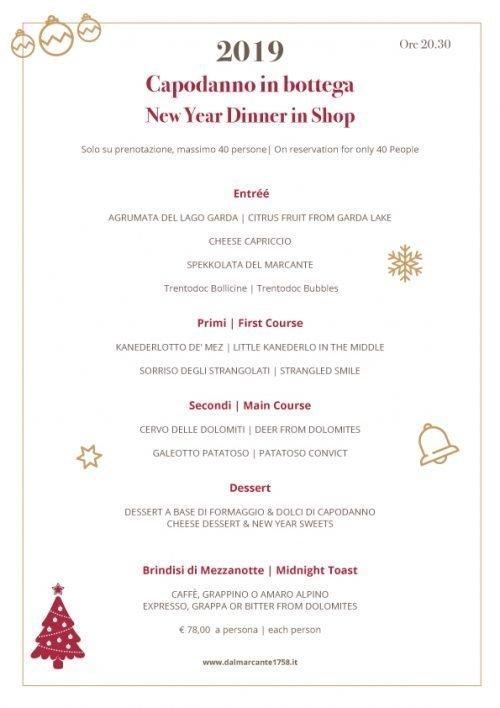 menu new year dinner 2019